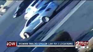 tulsa woman tracking stolen car [Video]