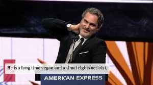Joaquin Phoenix was behind the Golden Globes' vegan menu [Video]