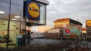 Travellers have moved onto a Lidl car park in Birmingham (RAW) [Video]