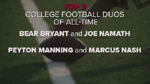 Fans believe these are the greatest college football duos of all time [Video]