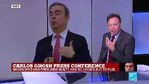 "Carlos Ghosn press conference: ""He sounds like a man who believes the world is treating him badly"" [Video]"