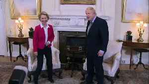 PM and EU Commission President chat inside No.10 [Video]