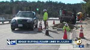SDG&E burying power lines in Julian [Video]