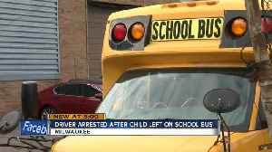 Driver taken into custody after 3-year-old left alone on bus [Video]