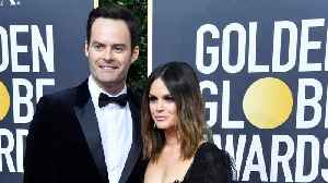 Bill Hader And Rachel Bilson Showoff Relationship At Golden Globes [Video]