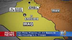 News video: Iran Fires Missiles At Air Bases In Iraq Housing U.S. Troops