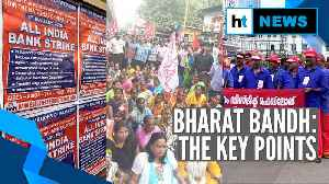 Bharat Bandh: Railway tracks blocked, protest marches in several states [Video]