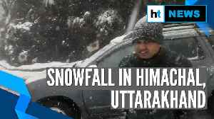 Watch: Heavy snowfall in Himachal Pradesh, Uttarakhand; normal life hit [Video]