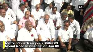 Bharat Bandh Protestors stage protest in Chennai [Video]