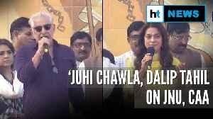 Juhi Chawla, Dalip Tahil question JNU violence's authenticity, support CAA [Video]