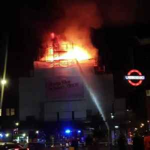 News video: Famous Music Venue in London Catches Fire