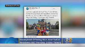 Disneyland Offering $67 Per-Day, 3-Day Tickets For SoCal Residents And 'Kids Everywhere' [Video]