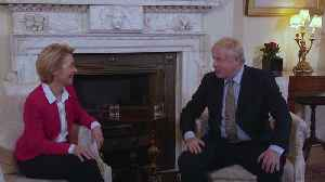 News video: Boris Johnson welcomes EU Commission president in Downing Street