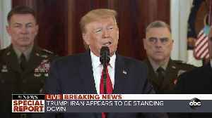 President Trump addresses nation after Iran launches missiles [Video]
