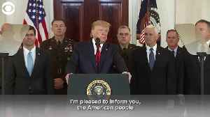 News video: President Donald Trump: Iran Appears To Be Standing Down