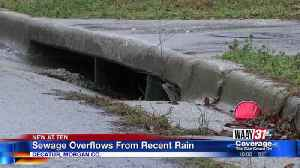 Sewage overflows from recent rain [Video]