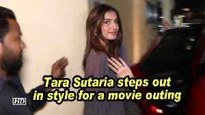 Tara Sutaria steps out in style for a movie outing [Video]