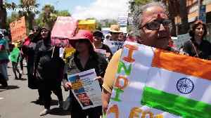 Activists against India's Citizenship Amendment Act take demands to the Indian Consulate in Cape Town [Video]