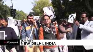 Students protest JNU campus attack in New Delhi, India [Video]