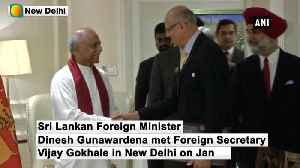 Sri Lankan Foreign Minister Gunawardena meets Foreign Secretary Vijay Gokhale [Video]