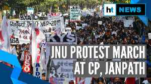 News video: JNU students demand VC's ouster; protest march to Rashtrapati Bhavan halted