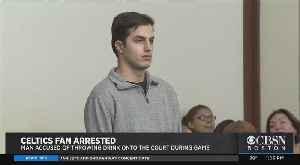 Fan Arrested At Celtics Game After Throwing Hard Seltzer Drink On Court [Video]