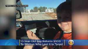 'I Felt Very Powerful': 10-Year-Old Boy Returns $900 To Woman Who Lost Envelope In Target [Video]