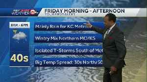 Wintry mix expected Friday; winter storm watch issued [Video]