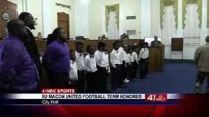 8U Macon United Hurricanes honored at City Hall [Video]