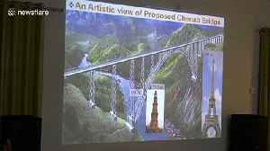 India set to complete world's highest rail bridge measuring at 349-metres tall [Video]