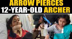12-year-old Assam Archer airlifted to Delhi after arrow pierces her shoulder|Oneindia [Video]