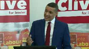 Labour leadership candidate Lewis sees 'party in crisis' [Video]