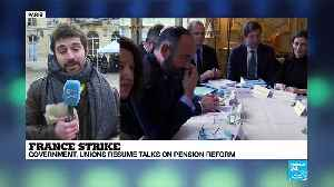 French government and union leaders resume talks on pension reform [Video]