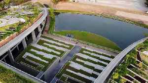 Asia's BIGGEST rooftop farm showcased in dazzling drone footage [Video]