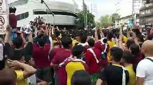 Chaotic scenes as Filipino Catholics scramble to touch Black Nazarene Jesus Christ statute [Video]