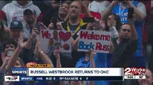 Russell Westbrook makes return to OKC, receives huge ovation [Video]