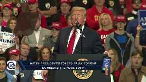 President Trump makes a return trip to Ohio tonight as he makes a push for another term in Toledo [Video]