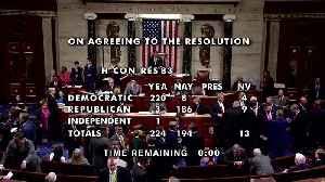 U.S. House passes war powers resolution [Video]