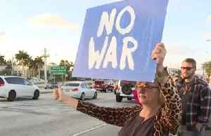 Rally against possible war with Iran [Video]