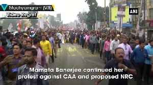 News video: Mamata Banerjee takes out protest march against CAA NRC in Madhyamgram