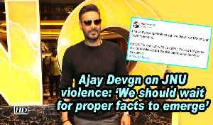 News video: Ajay Devgn on JNU violence: ' We should wait for proper facts to emerge'