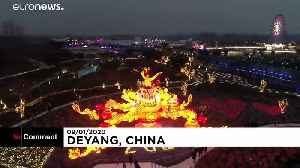 Lantern and light show as countdown begins for Chinese New Year
