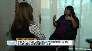 Hit-and-run crash survivor hopes to find man who saved her [Video]