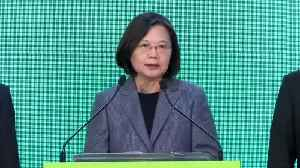 News video: Taiwan president wins by landslide in stinging rebuke to China