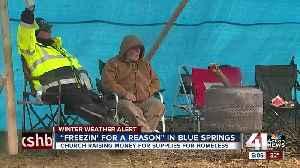 Blue Springs church braves freezing rain to camp for charity [Video]