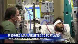Medford man in critical condition after catching the flu [Video]