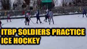 News video: ITBP soldiers practice ice hockey in Leh at -10 degrees|OneIndia News
