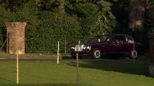 The Queen arrives for church service in Sandringham [Video]