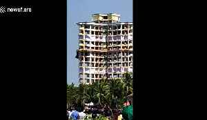 Luxury apartment block demolished in India over planning rules [Video]