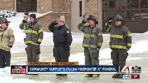 Funeral, procession held for fallen firefighter [Video]